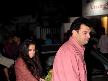 Vidya Balan and Siddharth Roy Kapur snapped at Sequel Bistro & Juice Bar