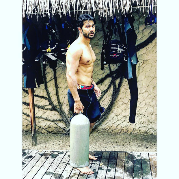 We can't get over Varun Dhawan's well-toned body in this picture after his scuba diving adventure