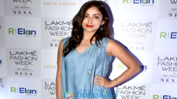 Yami Gautam, Isabelle Kaif and others arrive at Anita Dongre show at Lakme Fashion Week 2018