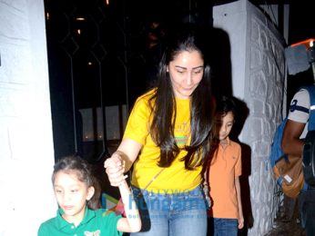 Manyata Dutt snapped with kids at The Korner House in Bandra