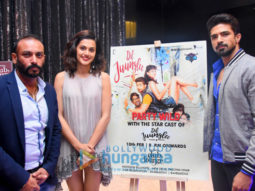Taapsee Pannu and Saqib Saleem promote 'Dil Juunglee' at The Theatre Club & Lounge