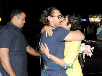 Aamir Khan returns from Jodhpur and Kiran Rao comes to receive him