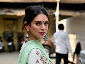 Aditi Rao Hydari snapped at a photo shoot for Spring Summer collection