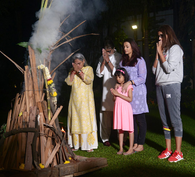 Here's how Amitabh Bachchan and family has kicked off Holi celebrations this year