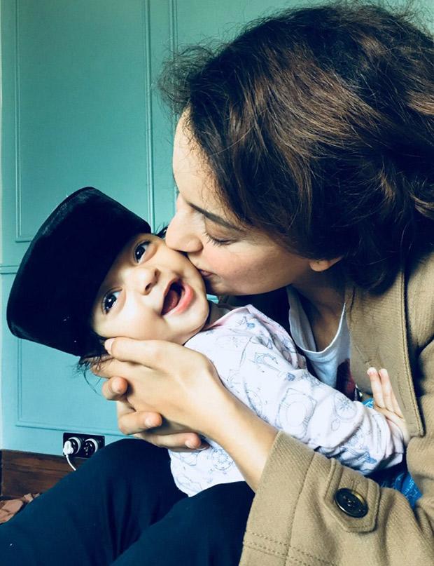 Awww! Kangana Ranaut coochie-coos with sister Rangoli Chandel's son