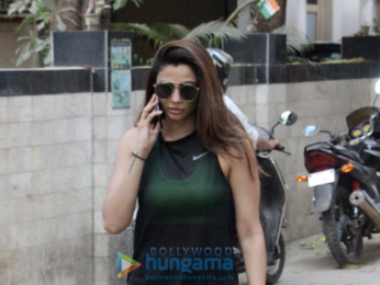 Daisy Shah spotted after a gym session in Bandra