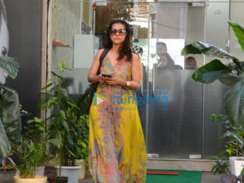 Kajol spotted after a salon session in Bandra