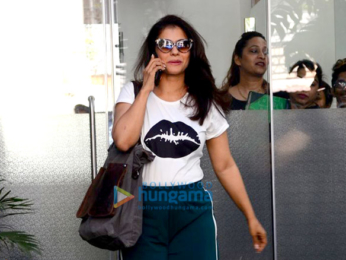 Kajol spotted after salon session in Bandra