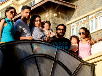 Kareena Kapoor Khan, Saif Ali Khan, Kunal Khemu and Soha Ali Khan snapped with their kids Taimur Ali Khan and Inaaya Naumi in Bandra