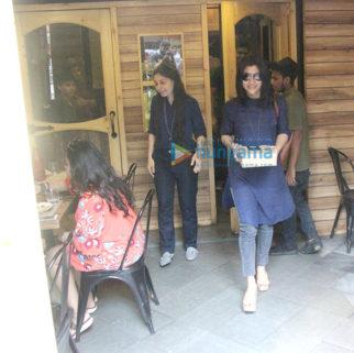 Konkona Sen Sharma snapped at Farmer's Cafe