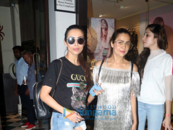 Malaika Arora and Amrita Arora spotted at Bastian in Bandra