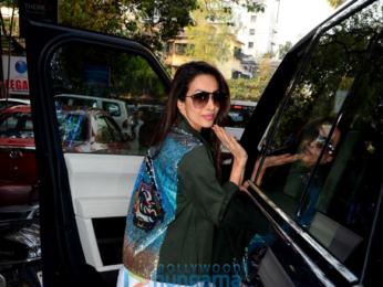Malaika Arora spotted at Muah salon in Khar
