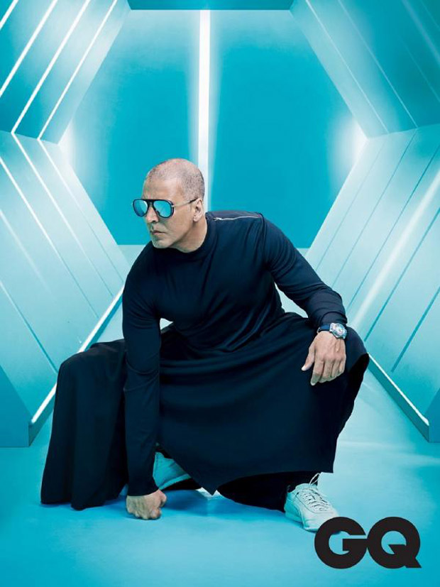 Shiny pate, steely stance Akshay Kumar on GQ is every bit sharp and sexy