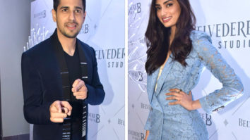 Sidharth Malhotra and Athiya Shetty at Belvedere Studio B launch