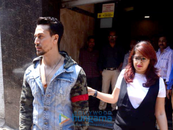 Tiger Shroff and Disha Patani snapped promoting their film Baaghi 2
