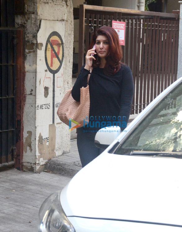 Twinkle Khanna snapped in Juhu