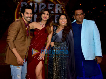 Varun Dhawan snapped on the sets of the show Super Dancer 2