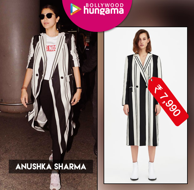 Weekly Celebrity Splurges: Anushka Sharma in a Zara coat
