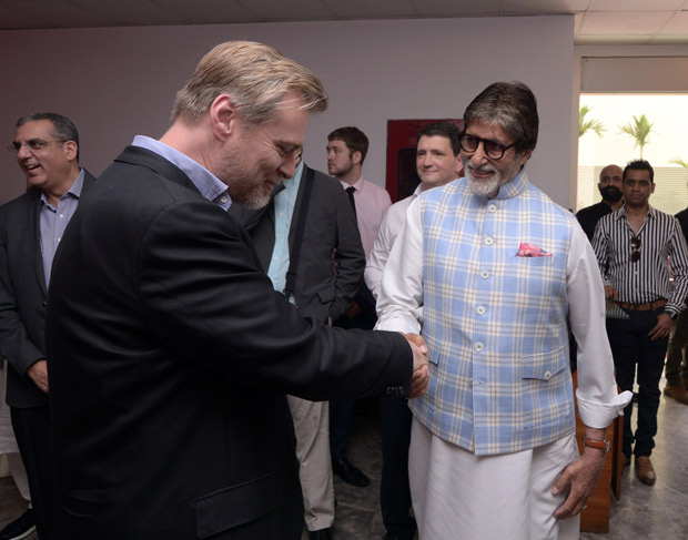 After Shah Rukh Khan and Kamal Haasan, Amitabh Bachchan meets filmmaker Christopher Nolan