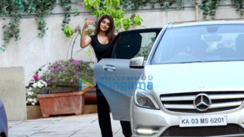 Nidhhi Agerwal spotted at gym in Bandra