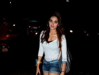 Nidhhi Agerwal spotted at the Korner House in Bandra