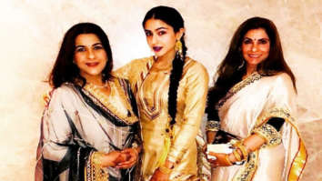 Sara Ali Khan stuns in traditional avatar; poses with mom Amrita Singh and Dimple Kapadia