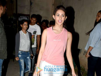 Amyra Dastur snapped Filmistan shooting for an ad