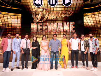 Cast of Race 3 snapped promoting the film on sets of the show Dance Deewane