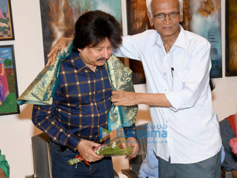 Celebs grace unveiling of Sanjay Chhel's first painting exhibition 'Man & The Moon - My Abstract Journey' at Jehangir Art Gallery