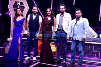 Irfan Pathan, Yusuf Pathan, Esha Gupta, Ahmed Khan, Lara Dutta snapped on sets of High Fever.. Dance Ka Naya Tevar