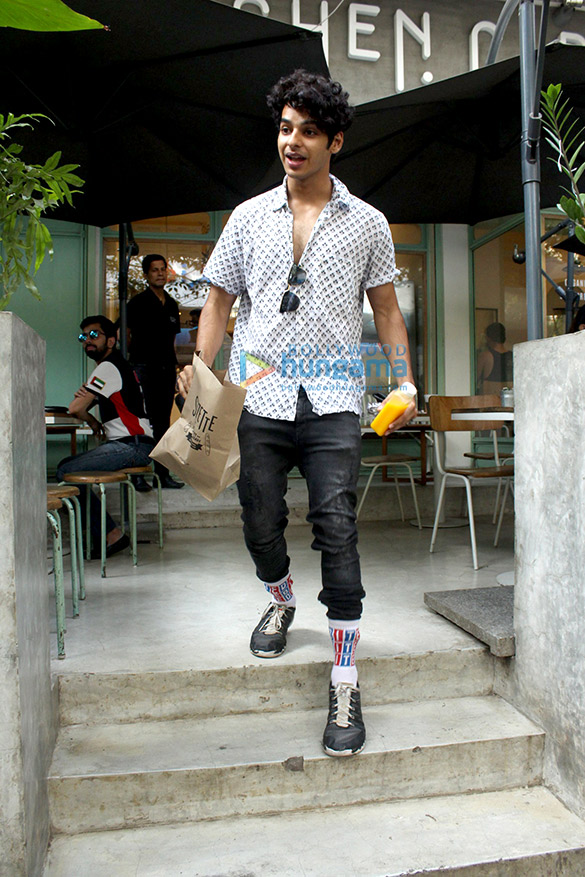 Ishaan Khattar snapped at Kitchen Garden
