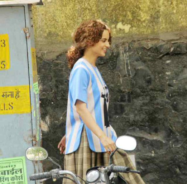 On The Sets: Kangana Ranaut flaunts her QUIRKY AVATARS on the first day shoot of Mental Hai Kya