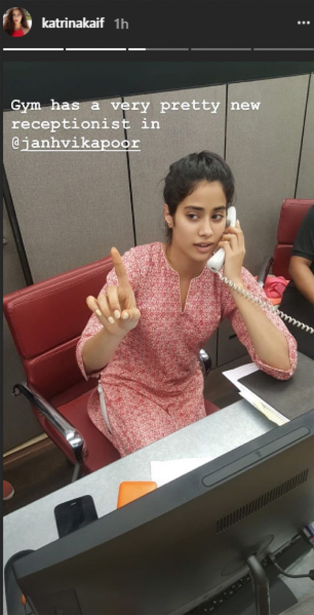 Katrina Kaif is in awe of her pretty gym receptionist, Janhvi Kapoor (see pic)