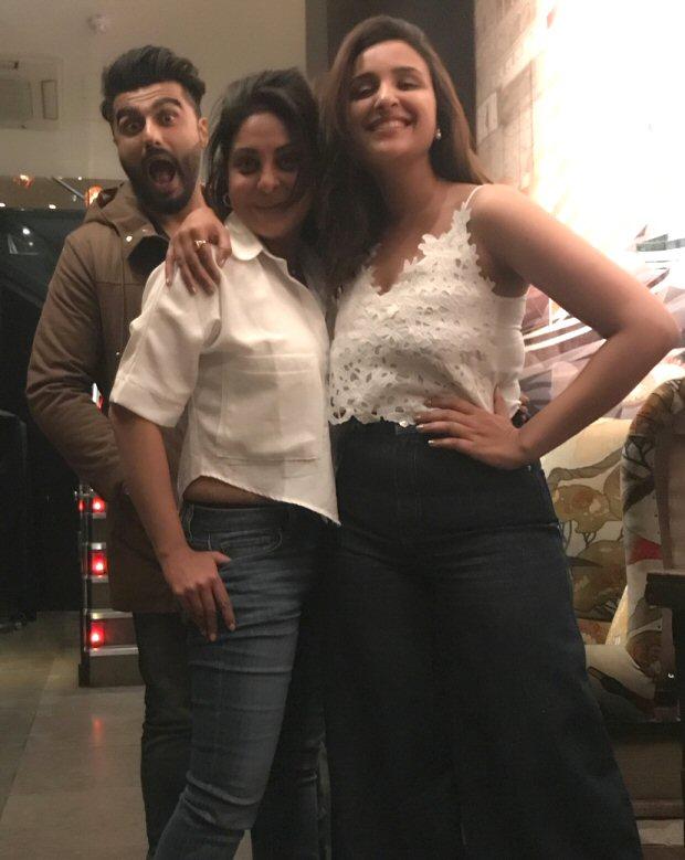 Namaste England co-stars Parineeti Chopra and Arjun Kapoor celebrate Shefali Shah's birthday in London
