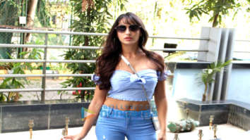 Nora Fatehi spotted at Nikhil Advani's office