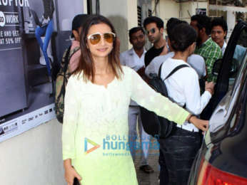 Rajkummar Rao and Patralekha spotted at PVR, Juhu