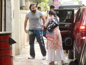 Saif Ali Khan and Sara Ali Khan snapped at Abhishek Kapoor's office in Khar