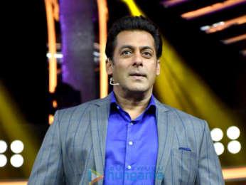 Salman Khan snapped attending the Dus Ka Dum press meet