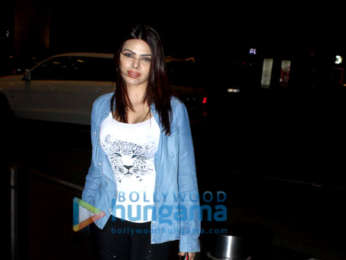 Sherlyn Chopra snapped at the airport