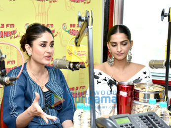 Sonam Kapoor Ahuja and Kareena Kapoor Khan promote Veere Di Wedding at the 98.3 FM Radio Mirchi office
