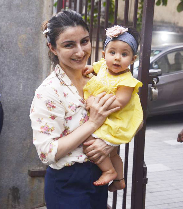 A little curious, a lot chirpy: Soha Ali Khan's Inaaya is just like her big bro Taimur in front of paparazzi (see pictures)