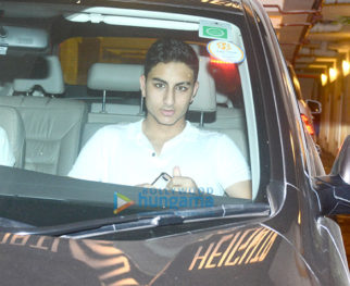 Ibrahim Ali Khan, Soha Ali Khan and Kunal Kemmu snapped at Saif Ali Khan's apartment in Bandra