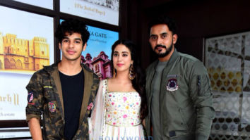 Janhvi Kapoor and Ishaan Khatter snapped promoting their film Dhadak in Jaipur