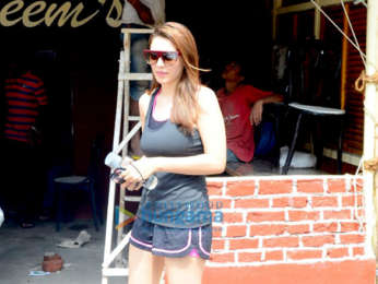 Patralekha and Hansika Motwani spotted outside a cafe in Bandra