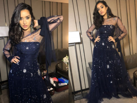 Shraddha Kapoor in Reem Acra for IIFA Rocks green carpet (Featured)