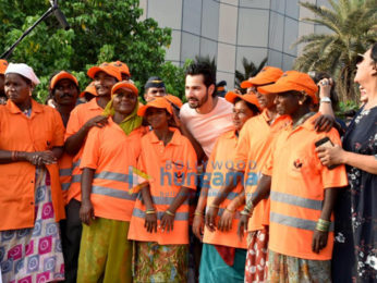 Varun Dhawan participates in the beach clean-up drive in Juhu