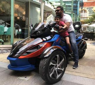 Ajay Devgn and his son Yug Devgn are 'Biker Boys' in London