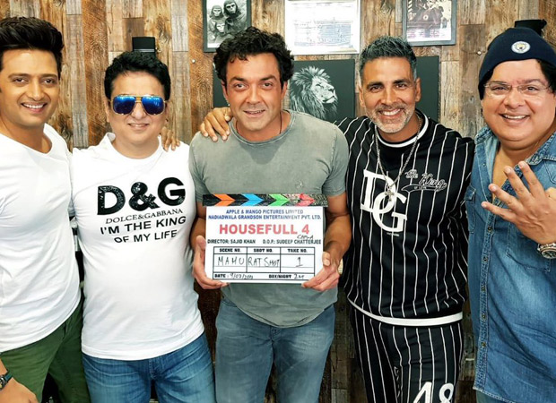 Akshay Kumar, Bobby Deol and Riteish Deshmukh ready to tickle your funny bones; begin shooting for Housefull 4