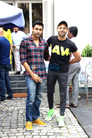 Aparshakti Khurrana and Anirudh Tanwar spotted at Taj Mahal Tea House