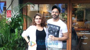 Fatima Sana Shaikh and Aparshakti Khurrana snapped at Sequel in Bandra